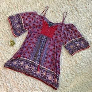 Angie Boho Off-Shoulder Tunic 💜❤️